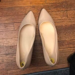 Nude wedged shoes!
